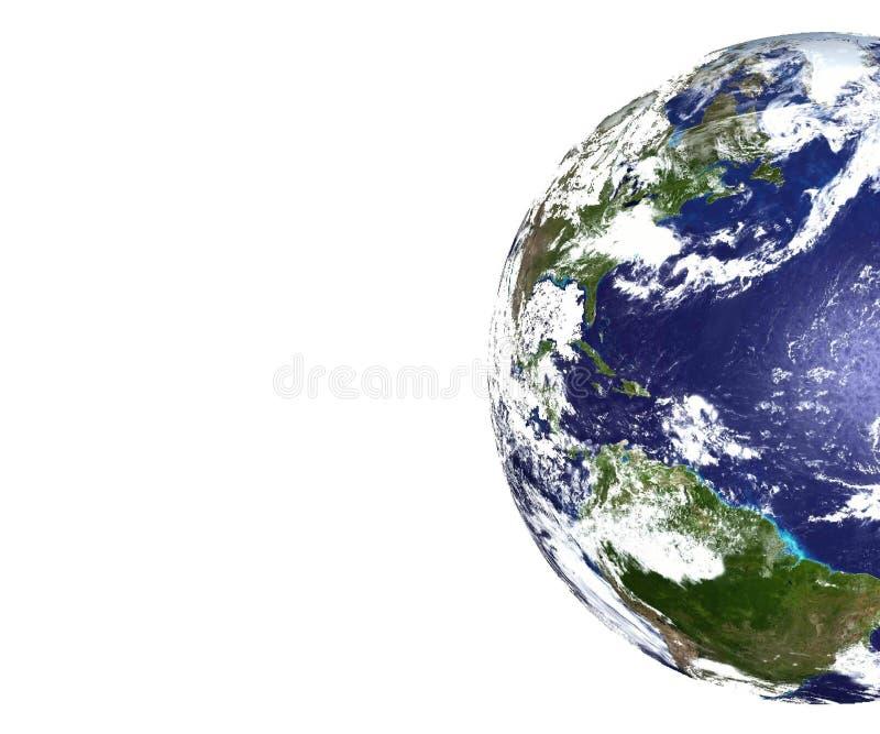 Gedeeltelijke mening van Aarde stock afbeeldingen