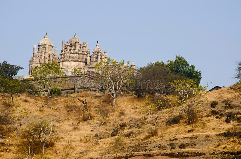 Gedeeltelijke mening van Bhuleshwar-Tempel, Pune, Maharashtra stock fotografie