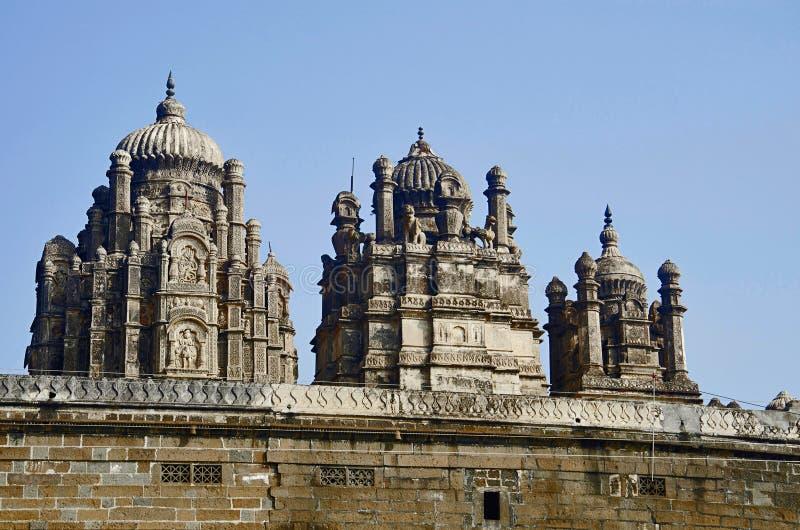 Gedeeltelijke mening van Bhuleshwar-Tempel, Pune, Maharashtra stock afbeelding