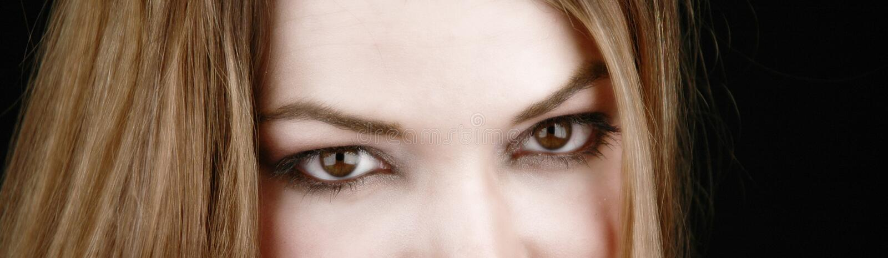 Gedeeltelijke vrouw gezicht-2 stock foto's
