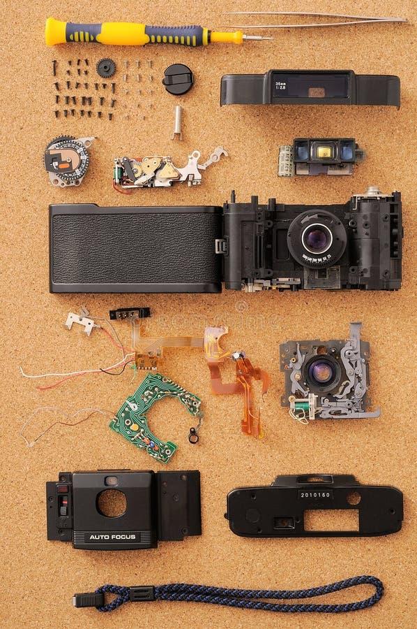 Gedemonteerde camera stock foto's