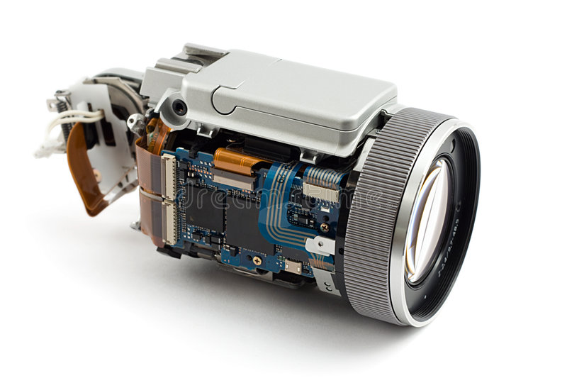 Gedemonteerde camera royalty-vrije stock foto