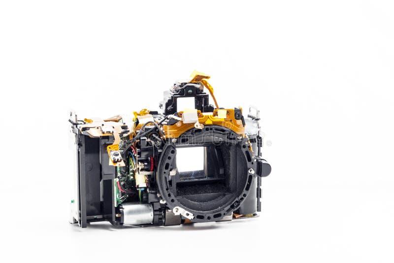 Gedemonteerde fotocamera royalty-vrije stock fotografie