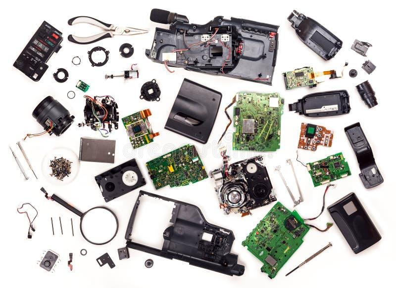 Gedemonteerde VHS-videocamera stock afbeeldingen