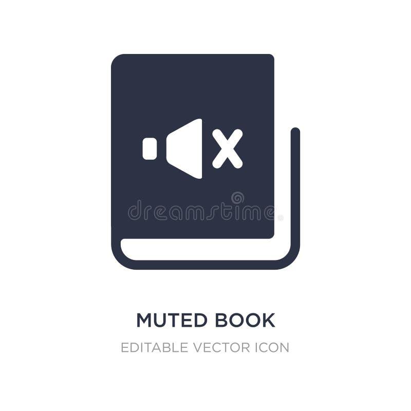 gedempt boekpictogram op witte achtergrond Eenvoudige elementenillustratie van Onderwijsconcept vector illustratie