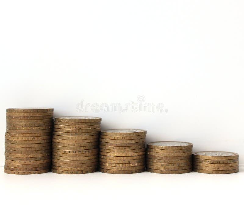 Gedenkmünzen der Russischen Föderation zehn-stellten Rezession grafisch dar stockbilder