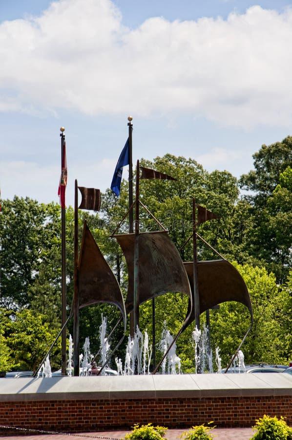Gedenkteken aan de Kolonisten in Jamestown Virginia stock foto's