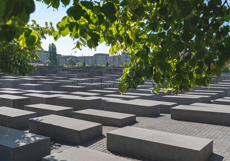 Gedenkteken aan de Moorde Joden van Europa, Holocaustgedenkteken, in Berlijn stock foto