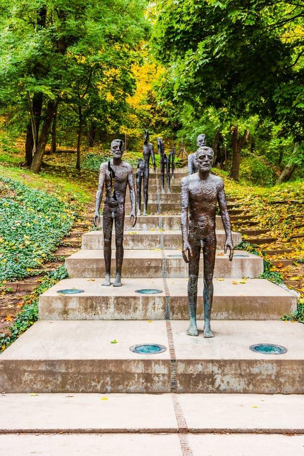 Gedenkteken aan de Slachtoffers van Communisme in Praag, Tsjechische Republiek stock afbeelding