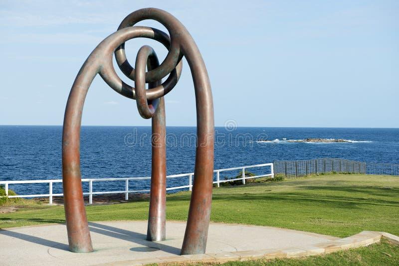 Gedenkteken aan de slachtoffers van het bombarderen van Bali, Coogee-Strand, Sydney, Australië royalty-vrije stock foto's