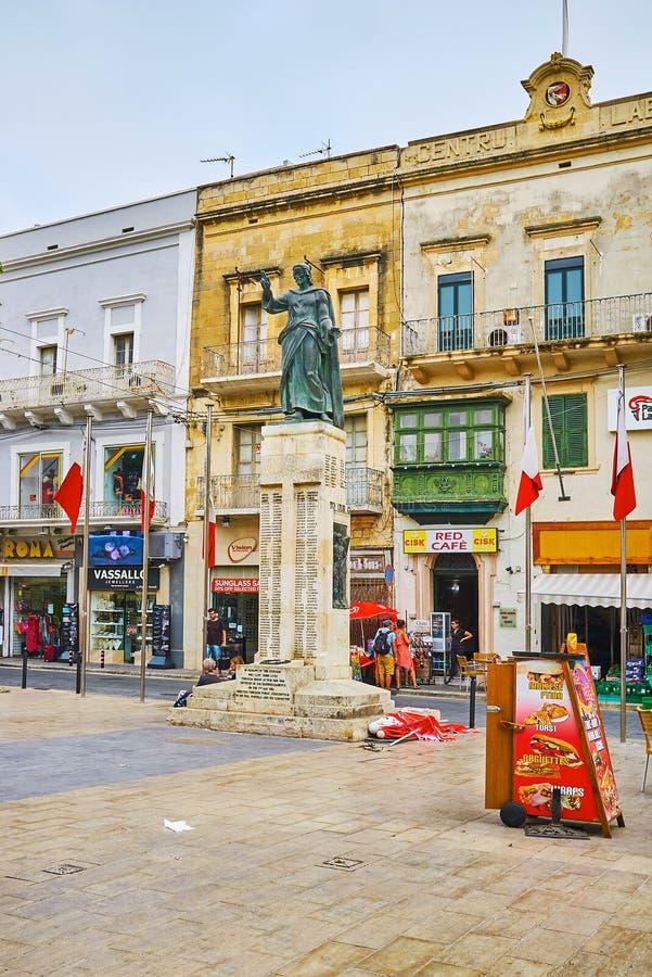 Gedenkteken aan Gozitan-Slachtoffers van Wereldoorlog II, Victoria, Gozo Isla stock foto's