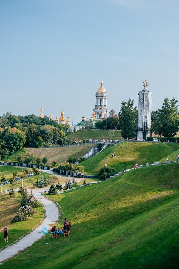 Gedenkteken aan Holodomor-slachtoffers stock foto