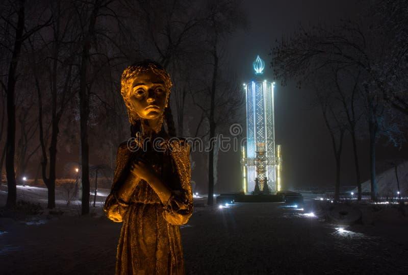 Gedenkteken aan Holodomor-slachtoffers - Kiev royalty-vrije stock afbeeldingen