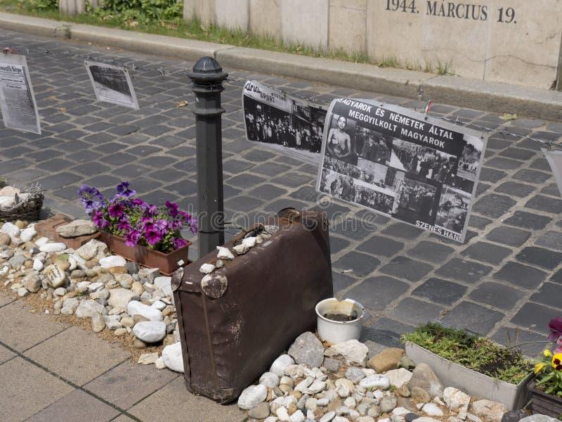 Gedenkteken aan slachtoffers van Geraman-beroep stock afbeelding