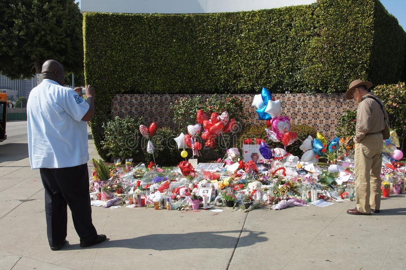 Gedenkteken aan Whitney Houston stock afbeelding