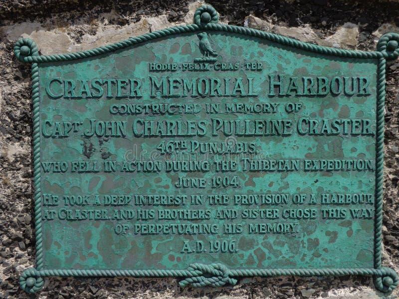 Gedenkteken bij Craster-Haven Northumberland stock fotografie