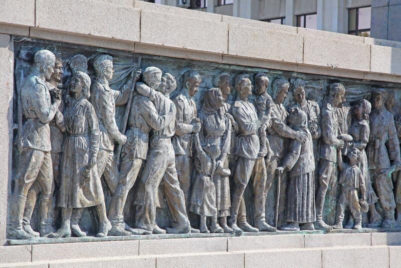 Gedenkteken in Burgas, Bulgarije stock afbeelding