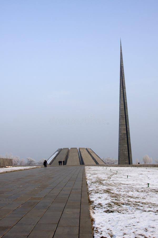 Gedenkteken gewijd aan de slachtoffers van de Armeense Volkerenmoord stock afbeeldingen