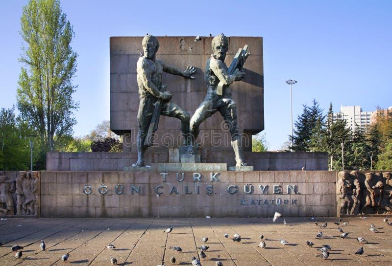 Gedenkteken in Guvenpark ankara Turkije royalty-vrije stock foto's