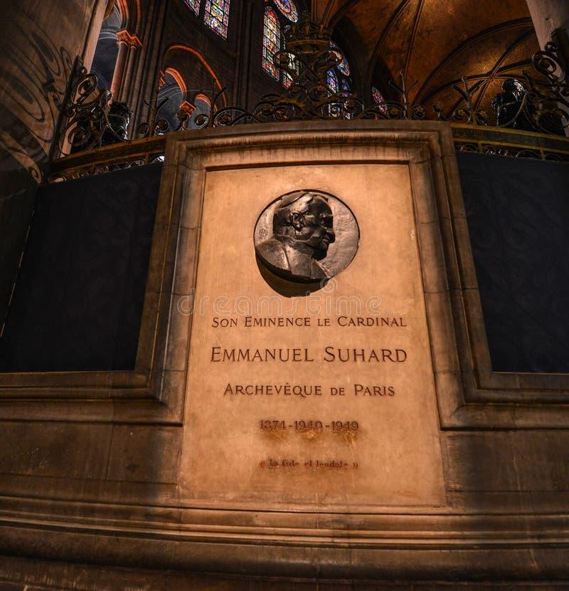 Gedenkteken van Emmanuel Suhard royalty-vrije stock foto
