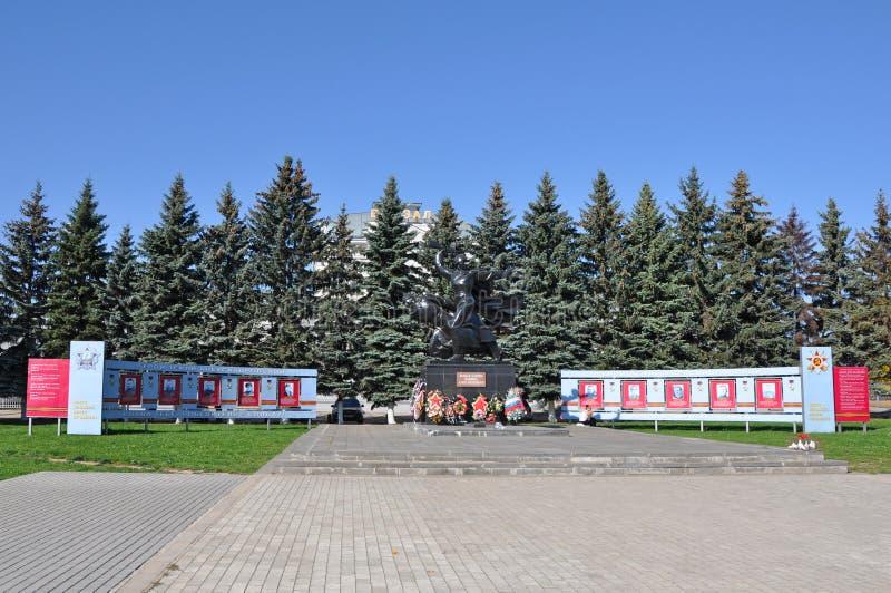Gedenkteken van Grote Patriottische Oorlog in Alexandrov-stad stock fotografie