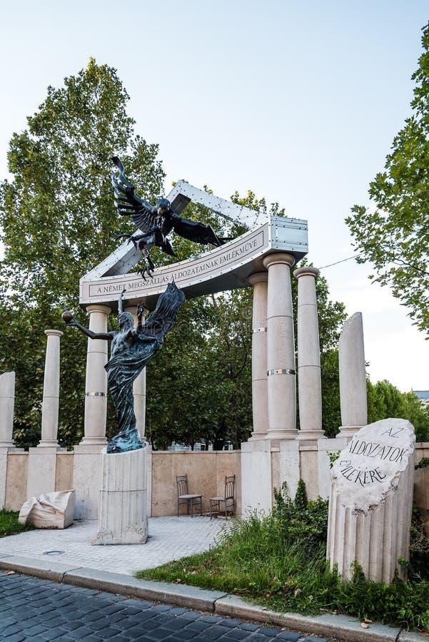 Gedenkteken voor slachtoffers van het Duitse Beroep in Boedapest royalty-vrije stock fotografie