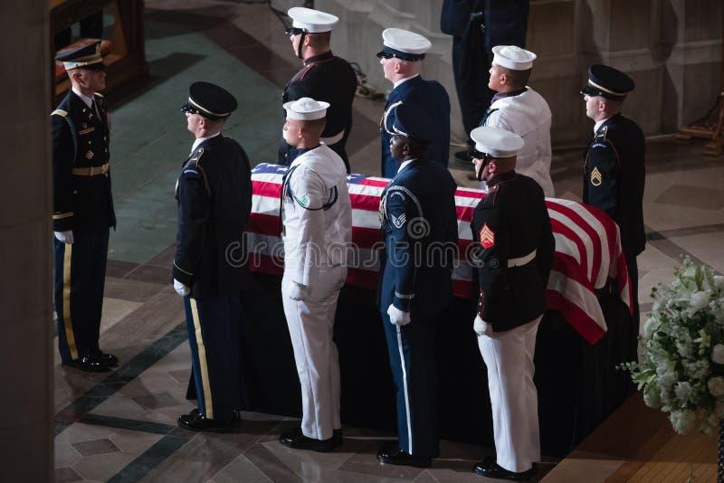 Gedenkveranstaltung von U S Senator John McCain stockbilder