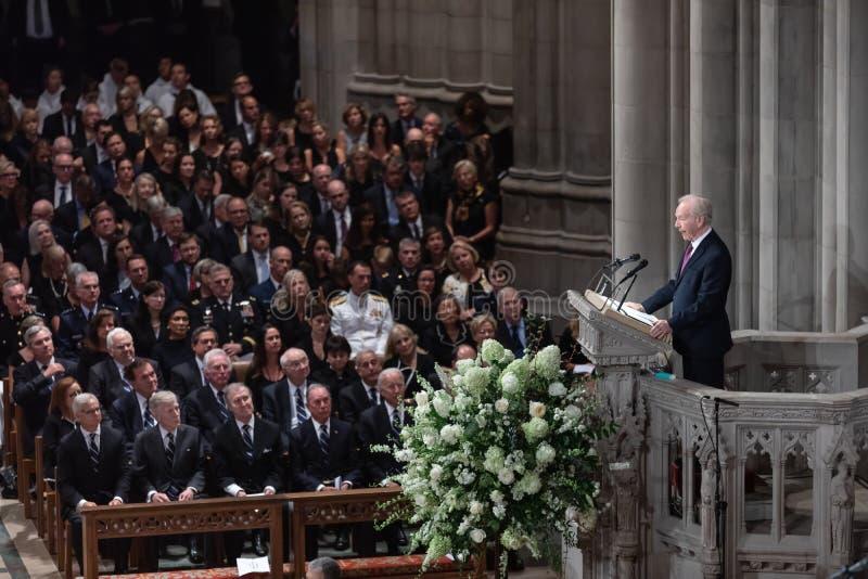Gedenkveranstaltung von U S Senator John McCain stockfotografie