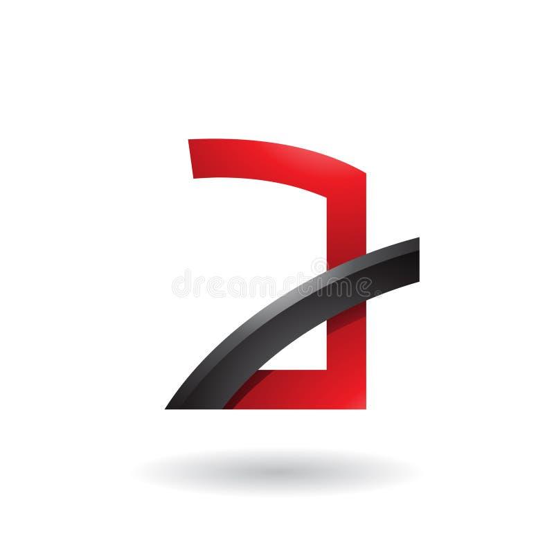 Gedenkwürdiges A mit dem schwarzen glatten Stock lokalisiert auf einem weißen Hintergrund stock abbildung