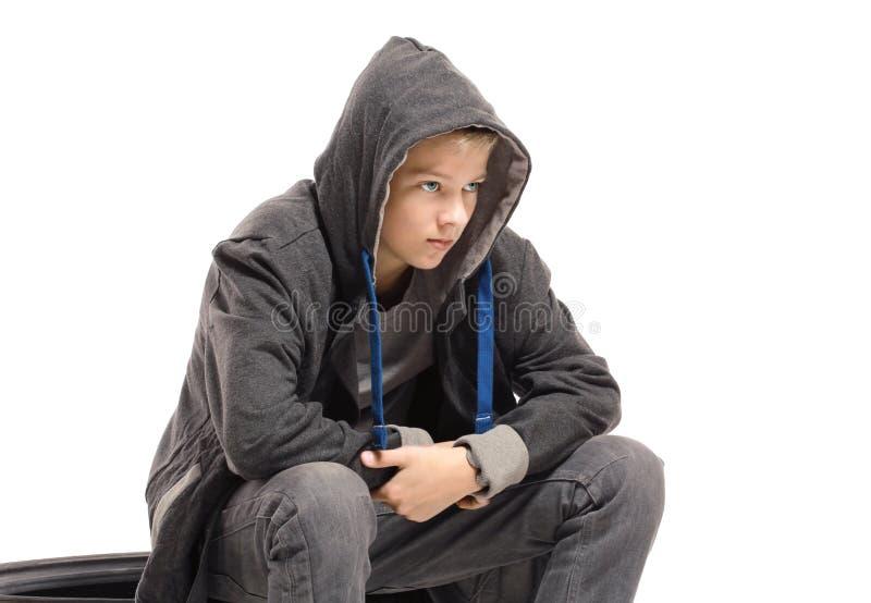 Gedeprimeerde tiener royalty-vrije stock foto