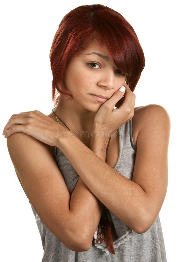 Gedeprimeerde Vrouwelijke Tiener stock foto's
