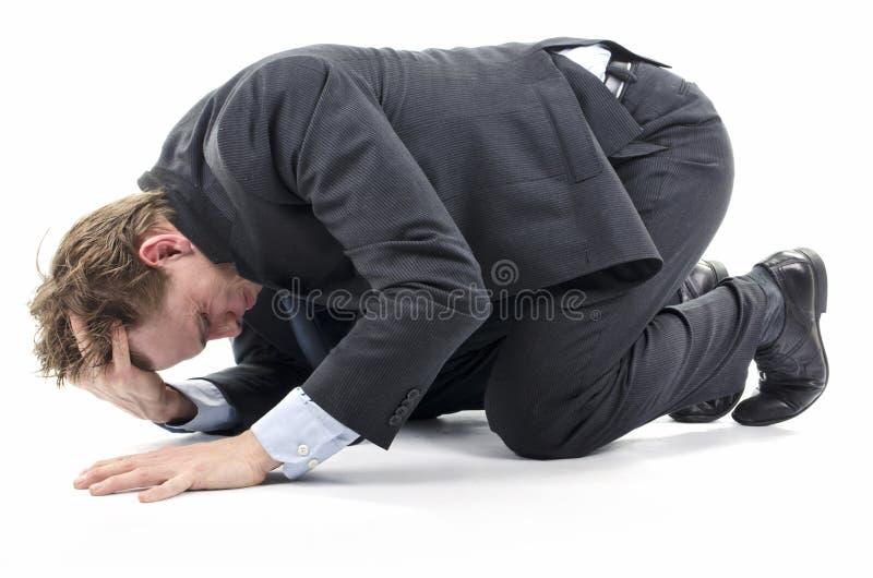 Gedeprimeerde zakenman royalty-vrije stock foto