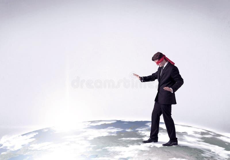 Gedesorienteerd geblinddocht zakenmanconcept stock foto's