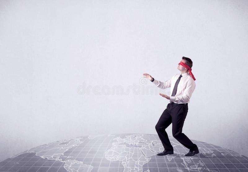 Gedesorienteerd geblinddocht zakenmanconcept stock fotografie