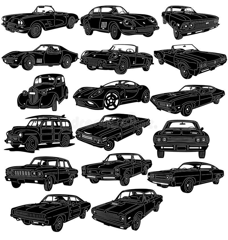 Gedetailleerd auto'spakket - vector illustratie