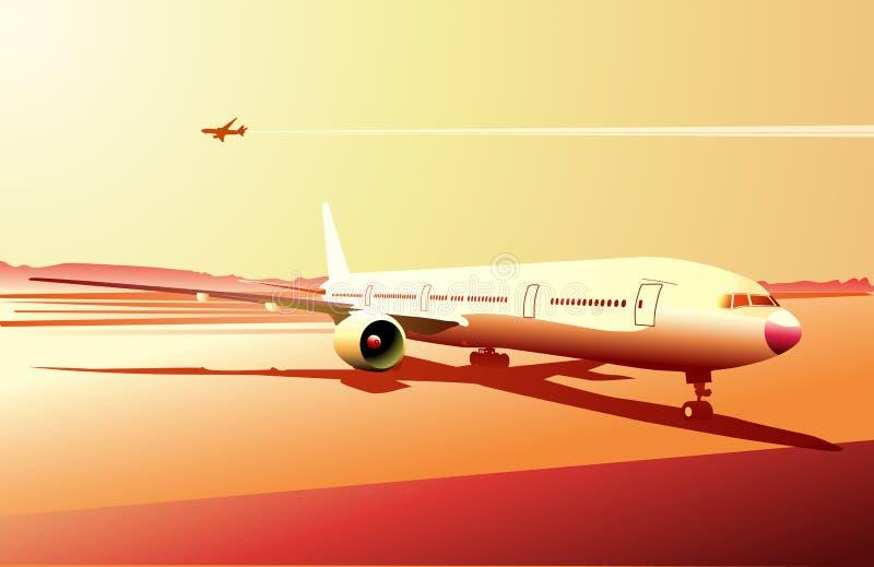 Gedetailleerde airplan vector illustratie