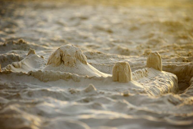 Gedetailleerde foto van een zandkasteel royalty-vrije stock fotografie