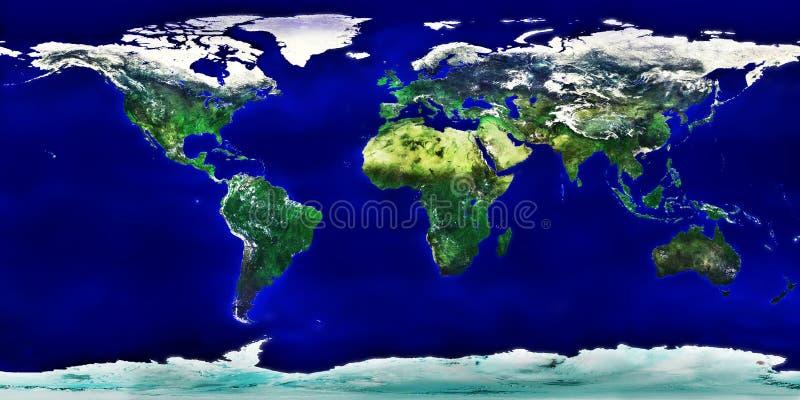 Gedetailleerde gekleurde wereldkaart royalty-vrije illustratie