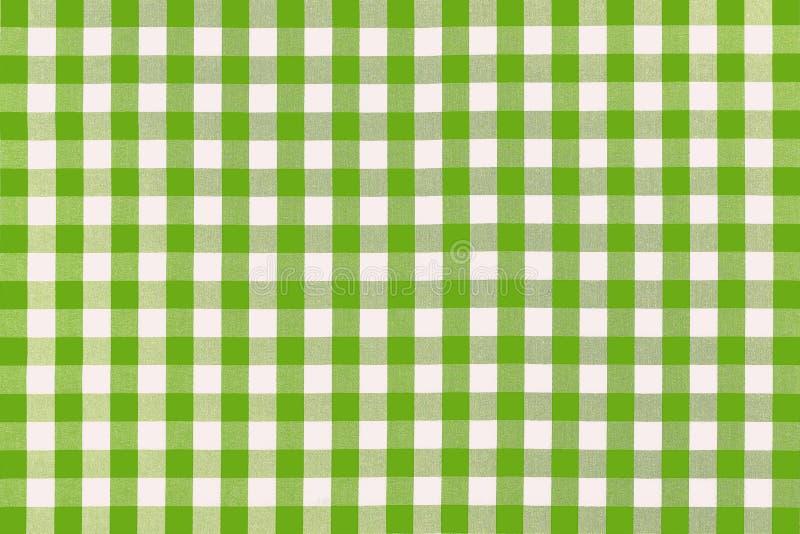 Gedetailleerde groene picknickdoek royalty-vrije stock foto