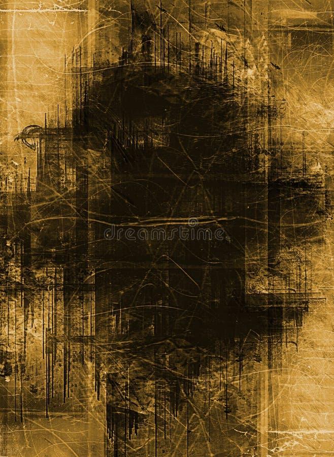 Gedetailleerde grunge grens vector illustratie