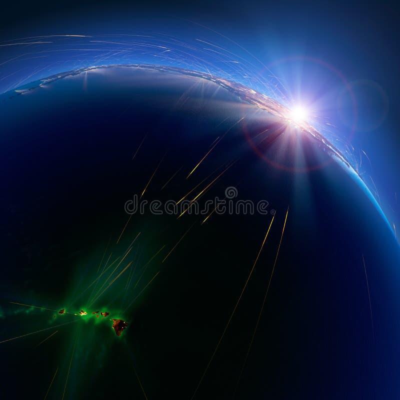 Gedetailleerde luchtroutes ter wereld hawa? het 3d teruggeven stock afbeelding