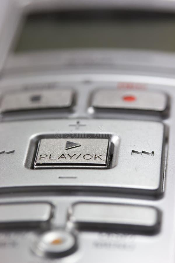 Gedetailleerde mening van het digitale stemregistreertoestel. royalty-vrije stock fotografie