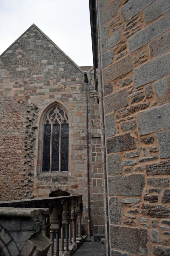 Gedetailleerde mening van oude gebouwen in Saint Malo, Bretagne, Frankrijk stock foto's