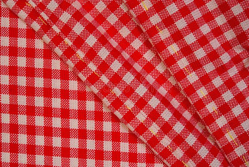 Gedetailleerde Rode Picknickdoek, Achtergrond Voor Ontwerp Royalty-vrije Stock Afbeelding