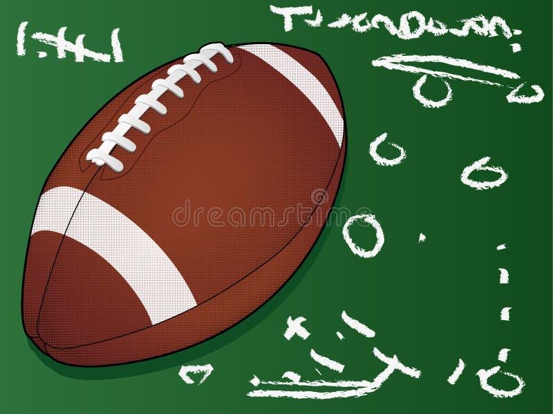 Gedetailleerde voetbal op bord royalty-vrije illustratie