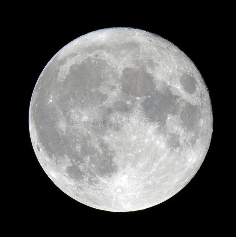 Gedetailleerde volle maan stock foto's