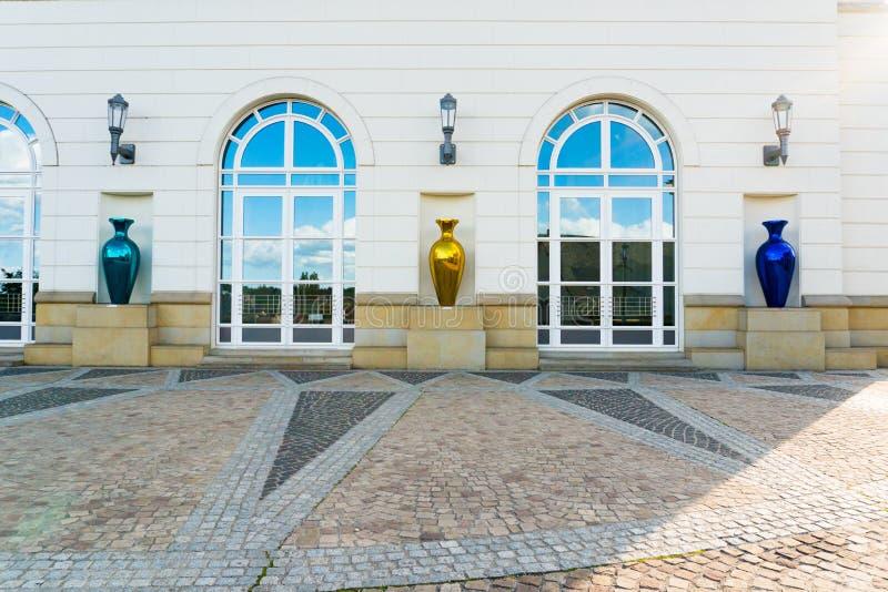 Gedetailleerde weergave van de gebouwen van het gerechtelijk centrum in de stad Luxemburg royalty-vrije stock foto's