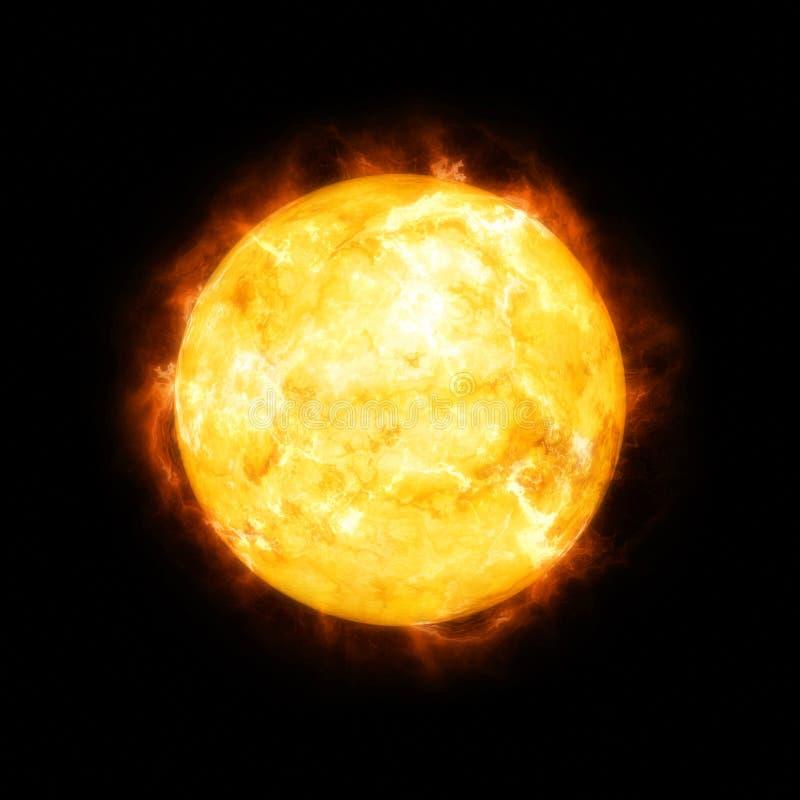 Gedetailleerde zon in ruimte vector illustratie