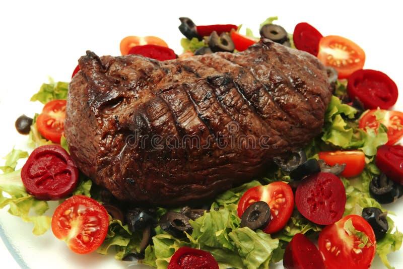 Gediende het vlees van het braadstuk stock foto
