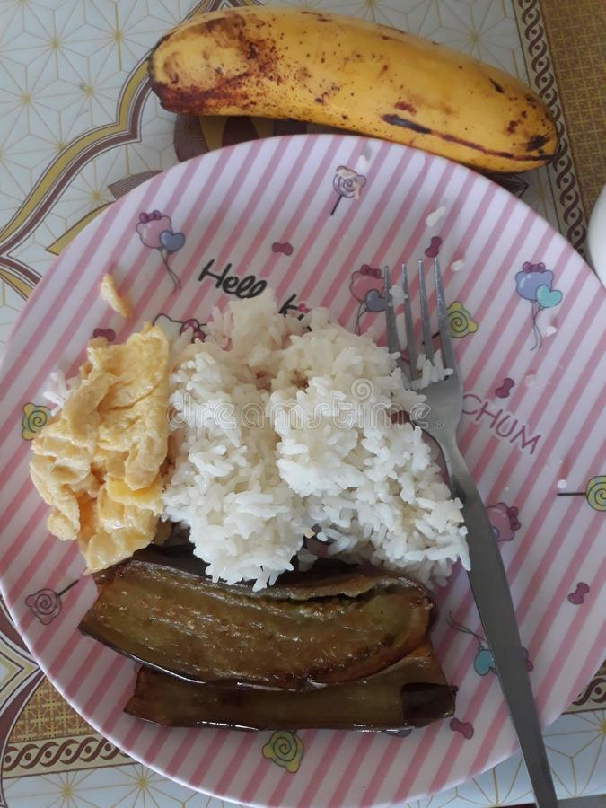 gediente Nahrung in den Philippinen lizenzfreies stockbild